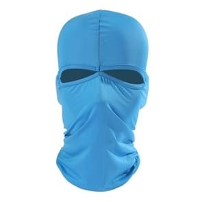 Balaclava stijl Unisex elastische Lycra Dual gaten fietsen hoofd Mask(Blue)