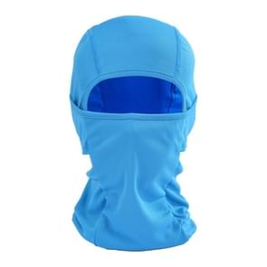Balaclava stijl Unisex elastische fietsen hoofd Mask(Blue)
