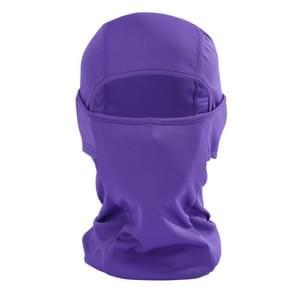 Balaclava stijl Unisex elastische fietsen hoofd Mask(Purple)