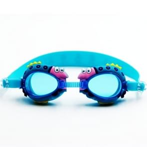 Cartoon Shark Pattern Anti-fog Silicone Swimming Goggles with Ear Plugs for Children(Baby Blue)