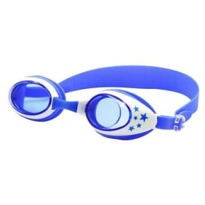 Star Pattern Anti-fog Silicone Swimming Goggles with Ear Plugs for Children(Blue)
