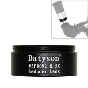 Datyson 5P0092 Grof Schroefdraad astronomische telescoop accessoires 1 25 inch 0 5x verminderde focus lens verminderd vermogen lens (Zwart)