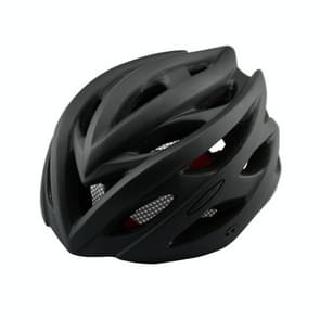 Outdoor Sports Mountainbiking Unibody Protective Helmet with LED Light  Suitable Head Circumference: 55 - 61 cm(Black)
