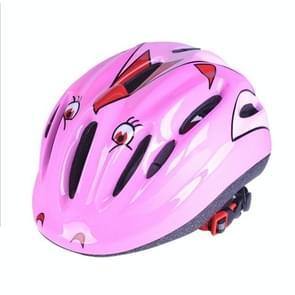 Kinderen buiten sport fietsen schaatsen skateboarden verstelbare stroomlijnen beschermende helm  geschikt Hoofdomtrek: 46-59-cm(Pink)