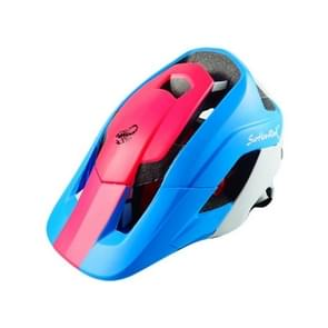 Outdoor Sports Mountainbiking Protective Helmet  Suitable Head Circumference: 54 - 58 cm  Size: M (Red+Blue)