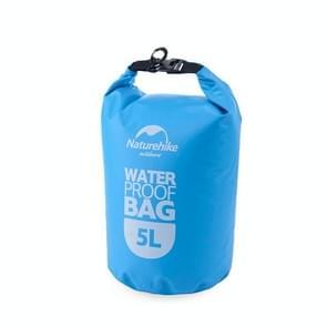 Naturehike 5L Outdoor PVC doek Trekking rivier drijven waterdichte tas ultralichte zwemmen tas (blauw)