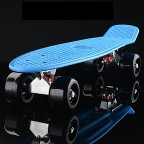 Shining Fish Plate Scooter Single Tilt Four Wheel Skateboard with 72mm Wheel(Black Blue)
