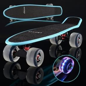 Stralende vis plaat Scooter één Tilt vier wiel Skateboard met 72mm slijpen Flash wiel (zwart)