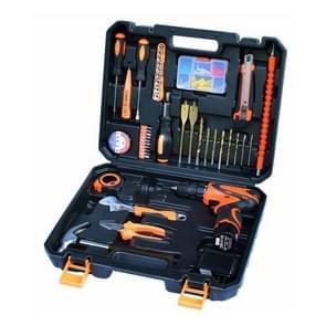 STT-044C multifunctionele huishoudelijke 44-delige elektricien reparatie Toolbox 12V Lithium elektrisch Boorpak