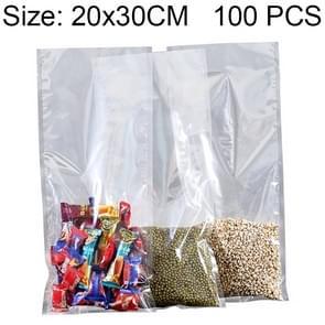 100 stuks voedsel vacuüm verpakking van doorzichtig Plastic zakje vers houden nylontas  grootte: 20 x 30 cm