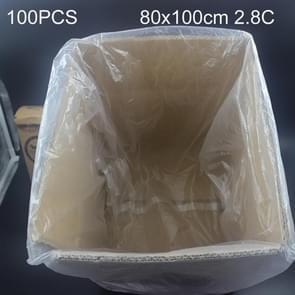 100 stuks 2 8 C stofdichte vocht-proof kunststof PE verpakking zak  formaat: 80 x 100 cm