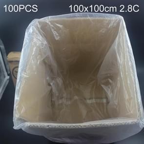 100 stuks 2 8 C stofdichte vocht-proof kunststof PE verpakking zak  grootte: 100 x 100 cm