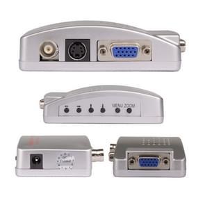 HOWEI HW-2404 BNC / S-Video naar VGA Video Converter (Blauw)