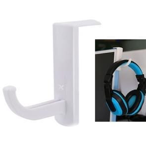 universeel hoofdtelefoon Hanger PC Monitor Desk Headset Stand houder haak wit