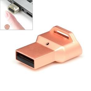 Mini USB vingerafdruk identificatie logger computer software Protector  ondersteuning Windows10 & Windows Hllo (Rose goud)