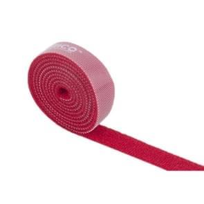 ORICO CBT-1S 1m herbruikbare & Dividable haak en lus kabel Ties(Red)