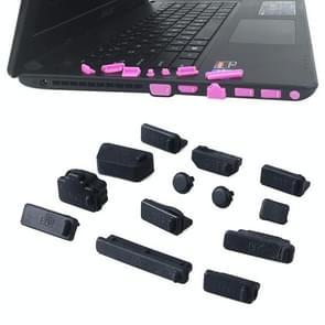 13 in 1 Universele Siliconen Anti-Dust Pluggen voor laptop (zwart)
