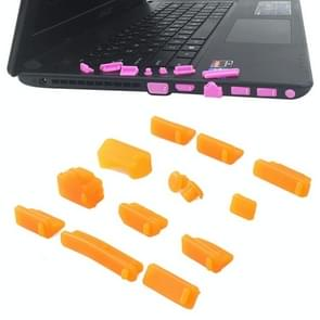 13 in 1 Universele Siliconen Anti-Dust Pluggen voor laptop (Oranje)
