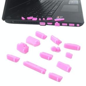 13 in 1 Universele Siliconen Anti-Dust Pluggen voor laptop (roze)