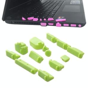 13 in 1 Universele Siliconen Anti-Dust Pluggen voor laptop (groen)