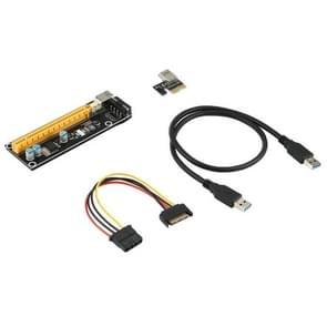 006S Riser-kaart PCI Express 1X tot 16X Extender USB 3.0 PCI-E Adapter Grafische uitbreidingskabel voor GPU Miner Mining