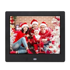 AC 100-240V 8 inch TFT scherm digitale foto Frame met houder & Remote Control afstandsbediening   steun USB / SD Card Input (zwart)