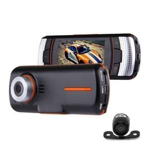 A1 Car DVR Camera 2 7 inch LCD Full HD 1080P 2 camera's 170 graad brede hoek het bekijken  de visie van de nacht van de steun / bewegingsdetectie / TF kaart / HDMI / G-Sensor
