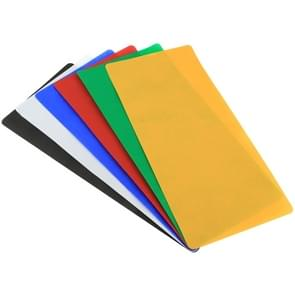 6 PCS PULUZ Collapsible Photography Studio Background  6 Colors (Black  White  Red  Blue  Orange  Green)  Size: 80cm x 40cm