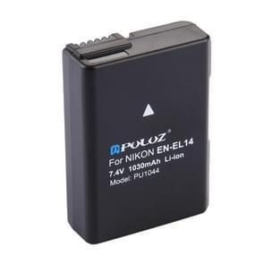 PULUZ EN-EL14 7.4V 1030mAh decoderen Li-ion accu voor de Nikon D3100 / D5100 / P7000 / P7100 enz.