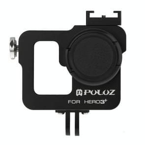 PULUZ Behuizing CNC Aluminium Kooi bescherming met 37mm UV-Filter Lens & Lens Cap voor GoPro HERO 3+ / 3 (zwart)