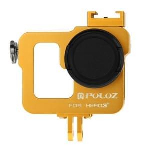 PULUZ Behuizing CNC Aluminium Kooi bescherming met 37mm UV-Filter Lens & Lens Cap voor GoPro HERO 3+ / 3 (Goud)