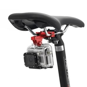 PULUZ Professionele buiten fotografie tool aluminium alloy fietszadel bevestiging camera houder voor GoPro & Xiaomi Xiaoyi YI Sport Actie camera(rood)