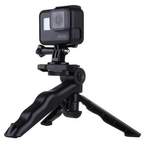 PULUZ Grip Folding Tripod Mount with Adapter & Screws for GoPro HERO6 /5 /4 /3+ /3 /2 /1  SJ4000  Digital Cameras  Load Max: 2kg(Black)