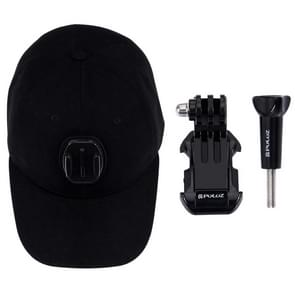 PULUZ honkbal hoed met J-Hook Buckle Mount & schroeven voor  GoPro HERO 7 / 6 / 5 / 5 session / 4 session / 4 / 3+/ 3 / 2 / 1    Xiaoyi nl andere actie Cameras(zwart)