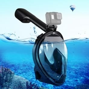 PULUZ 220mm Tube Water Sports Diving Equipment Full Dry Snorkel Mask for GoPro  NEW HERO /HERO6   /5 /5 Session /4 Session /4 /3+ /3 /2 /1  Xiaoyi and Other Action Cameras  L/XL Size(Black)