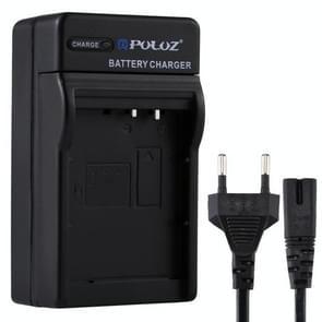 PULUZ EU Plug acculader met kabel voor Canon LP-E10 batterij