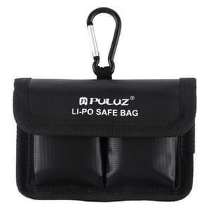 PULUZ Lithium batterij explosieveilige opberg zak voor veiligheidsbescherming met karabijnhaak voor camera batterij