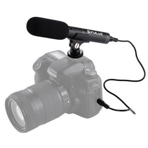 PULUZ professionele Interview Video Shotgun condensatormicrofoon met-audiokabel van 3,5 mm voor DSLR & DV-Camcorder