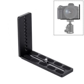 PULUZ 1/4 inch verticale shoot Quick release L plaat beugel Basishouder voor MOZA/DJI/Zhiyun/nevel 3-assige stabilisator (zwart)