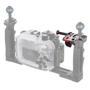 PULUZ sluiter release trigger extension adapter hendel voor onderwater armsysteem (zwart rood)