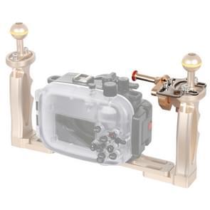 PULUZ sluiter release trigger extension adapter hendel voor onderwater arm systeem (goud)
