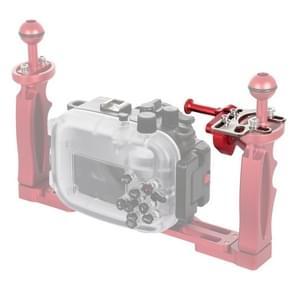 PULUZ sluiter ontgrendeling trigger Verleng adapter hendel voor onderwater armsysteem (rood)