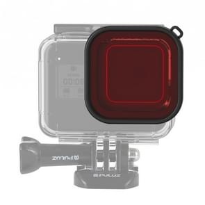 PULUZ Square Housing Diving Color lens filter voor GoPro HERO8 zwart (rood)