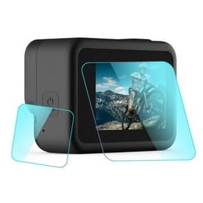PULUZ voor GoPro HERO8 Black lens + LCD-scherm gehard glas film