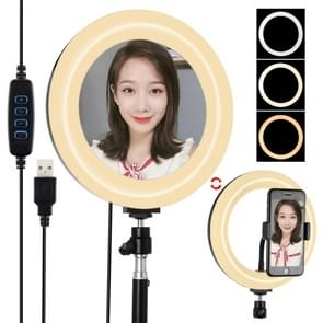 PULUZ 7 9 inch 20cm USB 3 Modes Dimable Dual Color Temperature LED Curved Light Ring Vlogging Selfie Photography Video Lights with Mirror (Black) PULUZ 7.9 inch 20cm USB 3 Modes Dimable Dual Color Temperature LED Curved Light Ring Vlogging Selfie Photogra