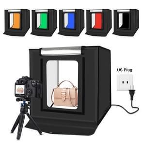 PULUZ PSE Certified 40cm vouwen draagbare 30W 5500K wit licht foto verlichting studio schieten tent Box kit met 6 kleuren achtergronden (zwart  oranje  wit  rood  groen  blauw)  grootte: 40cm x 40cm x 40cm