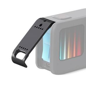 PULUZ ABS Plastic Battery Side Interface Cover voor GoPro HERO9 Zwart (Zwart)