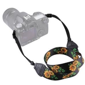 PULUZ Retro etnische stijl multi-color serie zonnebloem nek riem Camera schouderband voor SLR / DSLR camera's