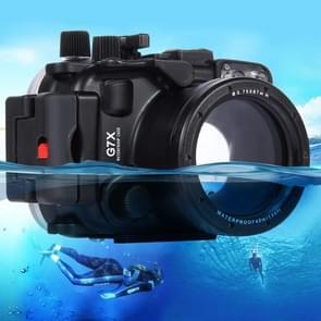 PULUZ 40m Underwater Depth Diving Case Waterproof Camera Housing for Canon G7 X(Black)