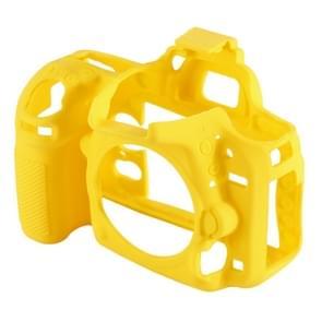 PULUZ zachte Silicone beschermhoes Case voor Nikon D750(Yellow)